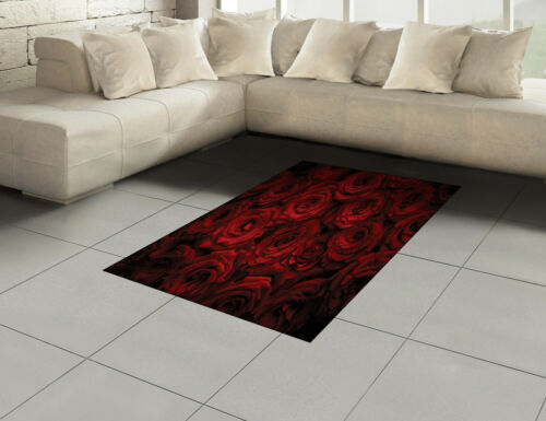 Dunkelrot Baumwolle Teppich Tropfen Blooming Bouquet
