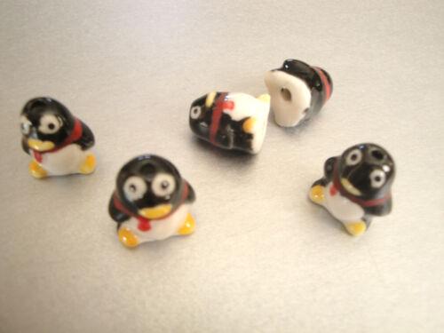 Hermosa Hecha A Mano Diseños elegir 10 Famille Rose Porcelana Penguin granos