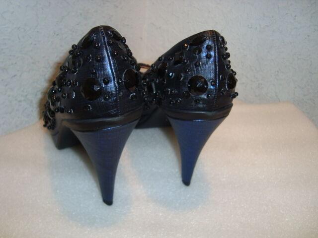 Kenneth Cole Reaction damen NWOB Glitter Blau schuhe Peep Toe Heels schuhe Blau 7.5 M NEW c20839