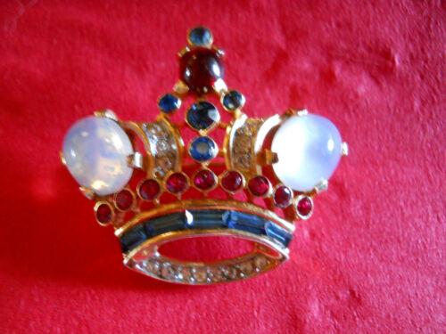 Vintage Crown Trifari Crown Brooch