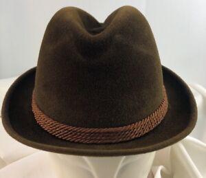 399dc91c VINTAGE STETSON 3X BEAVER FEDORA HAT - SIZE 6 7/8 Brown EXCELLENT | eBay