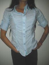Costa Blanca Women's Pinstripe Button Down Shirt Top sz S euc