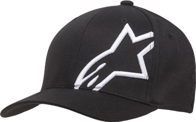 Mens Lid Cap Alpinestars Blaze Flexfit Hat-Black//White-S//M