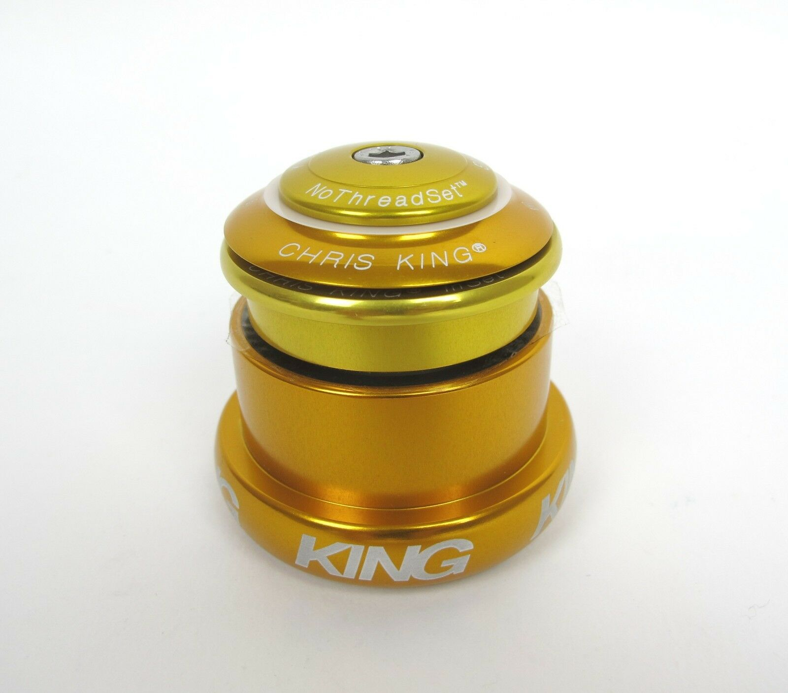 NEW Chris King i3 InSet Headset - gold - 44   49 Tapered - 10 Year Warranty