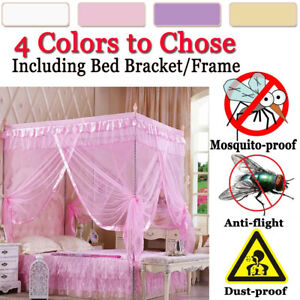 Chico-CHICAS-4-esquina-dosel-Mosquito-Red-Post-Cama-Doble-California-King-Size