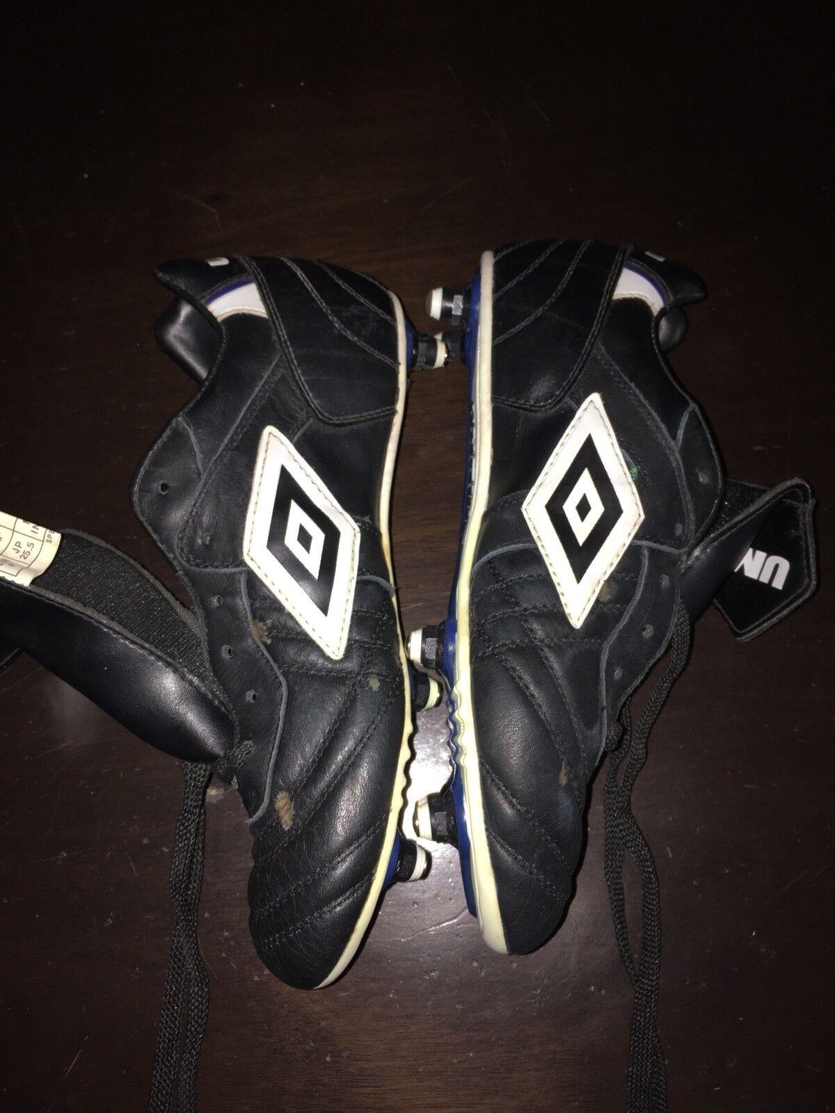 Umbro specialeei League SG Leather Soccer Cleats sautope Sz 8