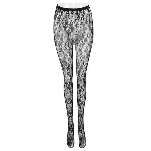 Women's Fashion Sexy Soft Tights Lace Jacquard Pantyhose Stockings N8D7