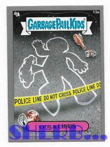 2012-Topps-Garbage-Pail-Kids-Brand-New-Series-1-Gray-13a-Chalk-Linus-Card-d8k