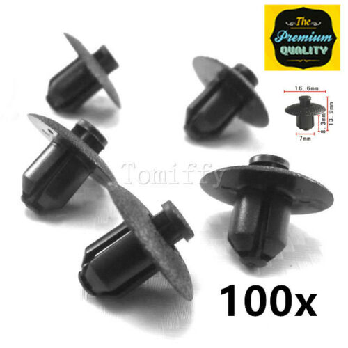 Lot of 100 Engine Side Cover Clips Retainer Fender For Toyota Lexus 90467-07117