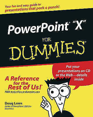 "1 of 1 - ""AS NEW"" PowerPoint 2003 For Dummies, Lowe, Doug, Book"