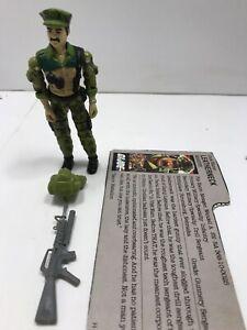 1986 GI Joe Beach Head Army Ranger v1 Figure w// File Card Back *Complete *READ