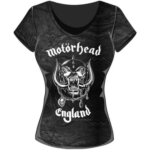 Motorhead Ladies Fashion Tee England with Acid Wash Finish