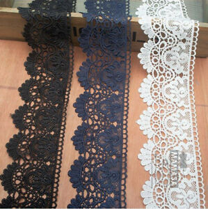 10-DESIGNS-Embroidered-Venise-Lace-Edging-TRIM-Sewing-Craft-Upholstery-Costume