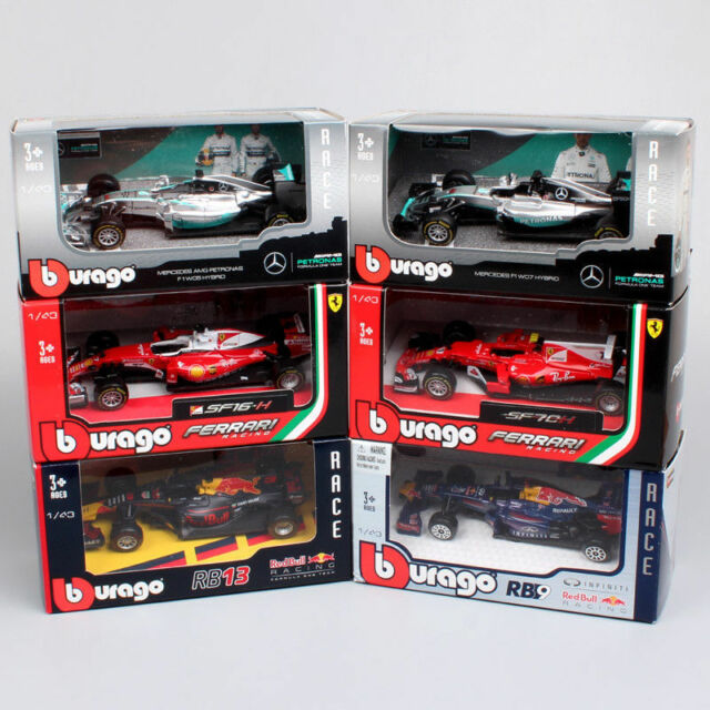 1:43 Formula one F1 Mercedes Ferrari  Red Bull 2018 diecast car toy models