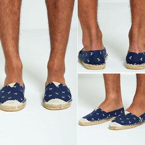 Hommes Flamingo nashivillef Toile Aarhon Bleu Chaussures Imprimée Sur En Slip wOFxB