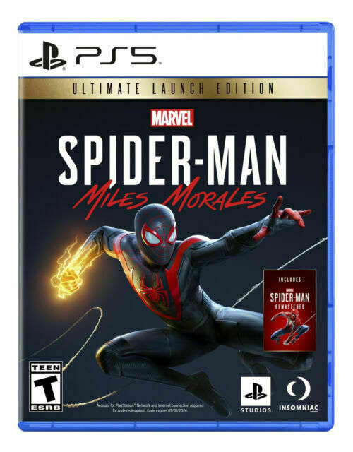 Spider-Man Miles Morales Ultimate Launch Edition PS5 NEW *SEALED*