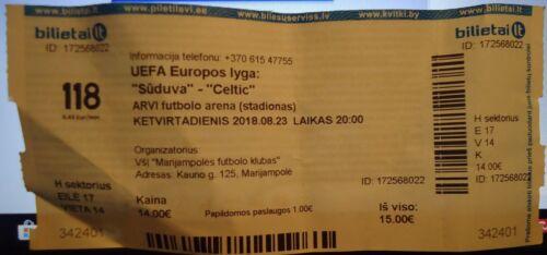 Celtic Glasgow TICKET UEFA EL 2018//19 FK Suduva Marijampole