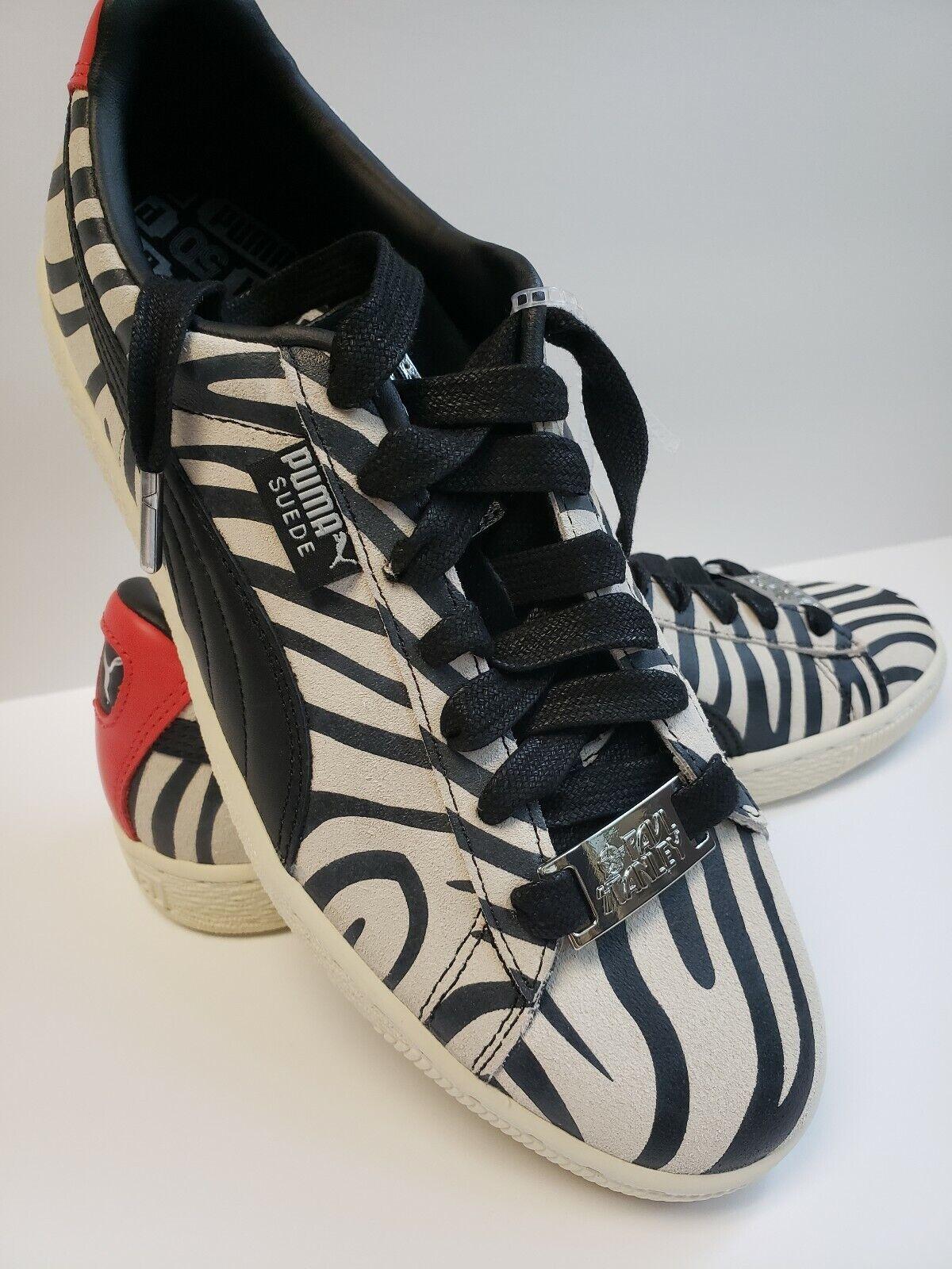 36c32af59ae Puma Suede KISS KISS KISS Collaboration Zebra Sneakers Men Size 8.5 ...
