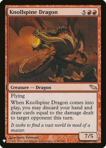 *MtG: KNOLLSPINE DRAGON from Mystery Booster magicman-europe Shadowmoor Rare