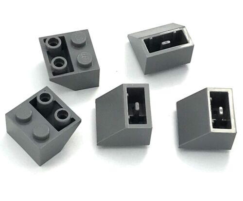 Lego Lot of 5 New Dark Bluish Gray Slopes Inverted 45 2 x 2 Smooth Parts