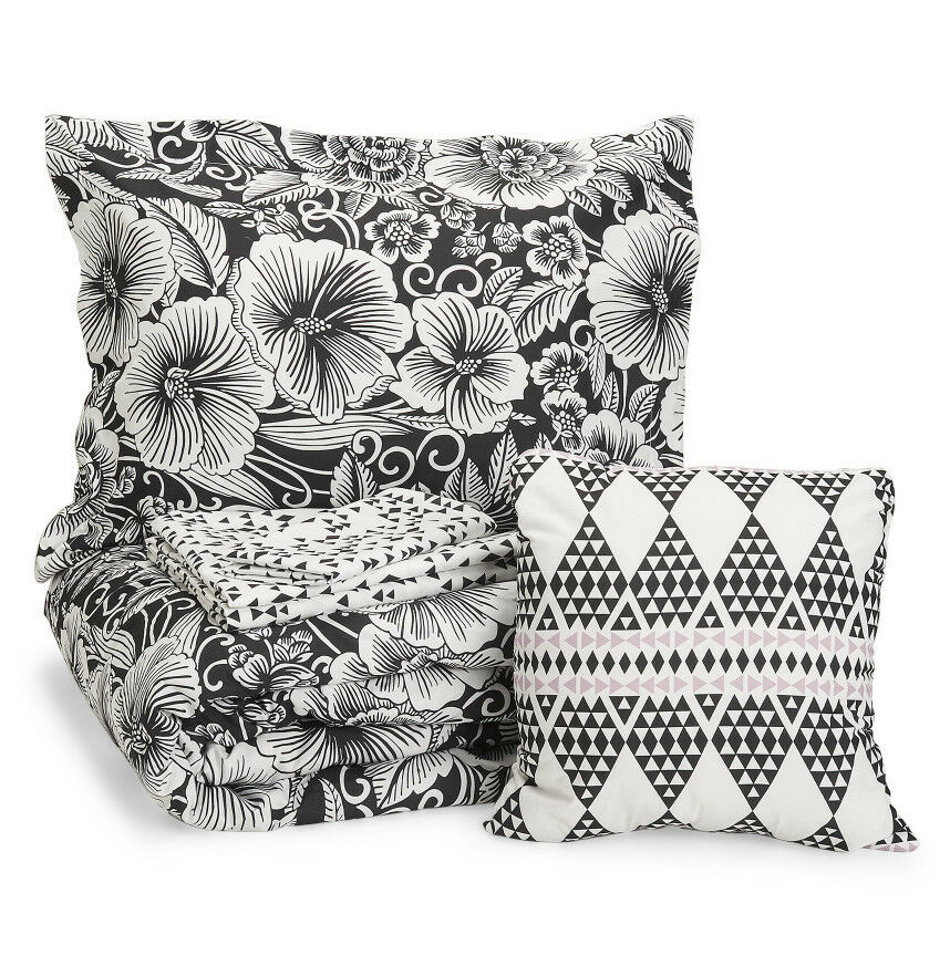Aeropostale Bed-in-a-Bag Tropical Floral 6-Pc Comforter Bedding Set, Twin Size