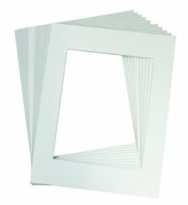 Pack-of-10-11x14-White-Picture-Mats-with-White-Core-Bevel-Cut-for-8x10-Pictures