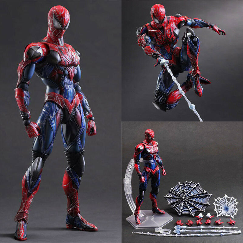 10  Avengers Spider-Man Action Figure Play Arts Kai Collection Toy Gift In Box