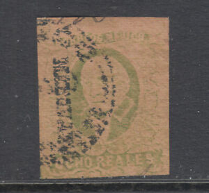 Mexico-Sc-12-used-1861-8r-green-on-red-brown-Hidalgo-sound