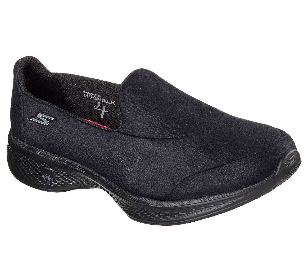 femmes  Skechers Go Walk Trainer Casual  noir  Lightweight Memory foam Summer Shoe