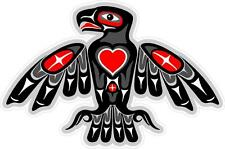 "#z1033 (1) 3.75"" Totem Eagle Native American Decal Sticker Car LAMINATED Heart"