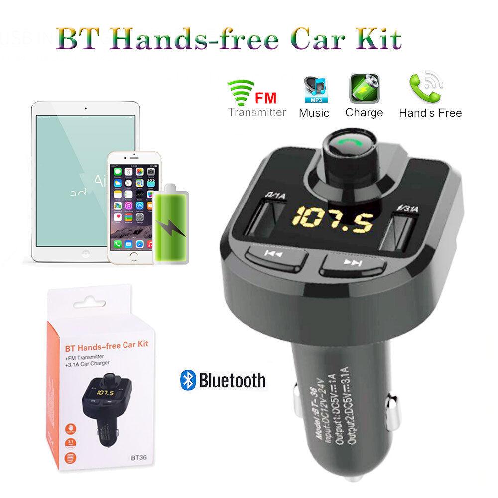 Bluetooth 4.0 Kit FM Transmisor de Radio Adaptador Coche con el Cargador MP3 Tarjeta de 5V // 3.1A Dual del Coche del USB del Jugador del TF DC 12-24V Transmisor FM USB Flash Drive