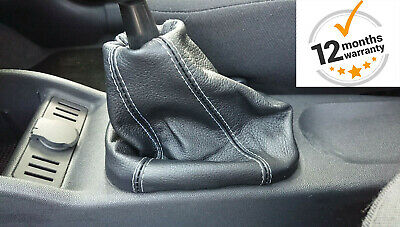 Gear Stick Gaiter For Vauxhall Corsa C 2000-2006 Leather Blue Stitching