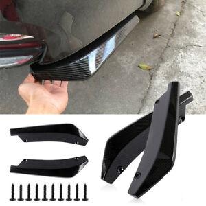 2x Universal Carbon Fiber Car Rear Bumper Lip Diffuser Splitter Canard Protector
