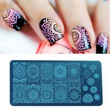 Nail Art Polish Manicure Image Stamping Template Mandala Print Plate sale