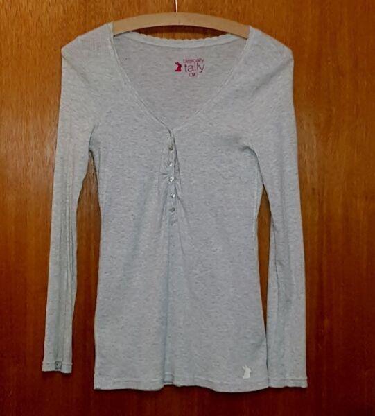 088l) Tailly Weijl Maglione Pullover Taglia M Grigio