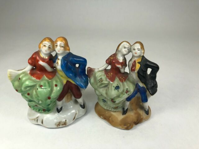 Vintage Occupied Japan Porcelain Colonial Courting Couple Figurines Ebay