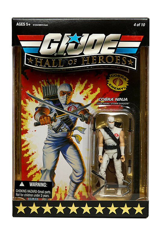 GI JOE Hall of Heroes: 2008: Cobra Ninja Storm Shadow: Sealed Unopened Mint