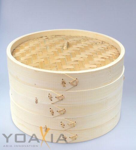 Bambou amortisseur 3 Pièces Set 20 cm Version Stable Bamboo Steamer