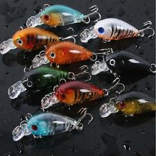 New Lot 5PCS Assorted Fishing Lures Crankbaits Hooks Minnow Baits Tackle E
