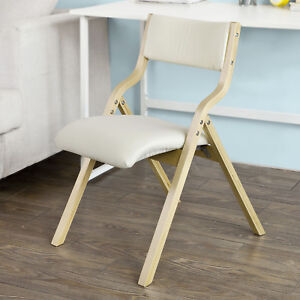 Folding Dining Chairs Padded.Details About Sobuy Wood Beige Padded Folding Chair Home Office Dining Chair Fst40 W Uk