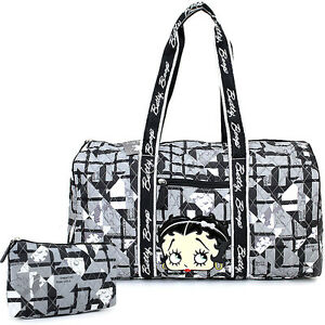 Betty Boop Quilted Duffle Travel Bag Diaper Gym Bag Betty