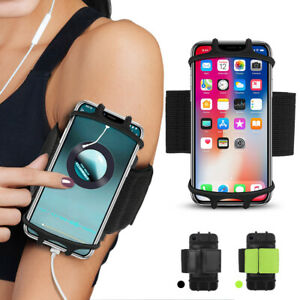 """Gym Running Jogging Sports Armband Bag Case Holder Cover For 4""""-6.5"""" Cell Phone"""