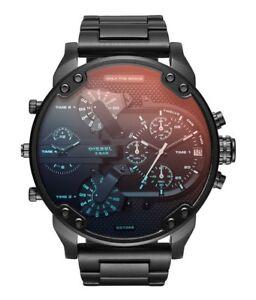Diesel-DZ7395-Mr-Daddy-2-0-Black-Stainless-Steel-Chronograph-Men-039-s-Watch