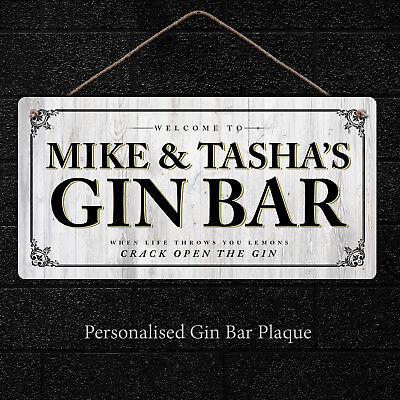 vodka Bar cuisine Personnalisé Bar signeSuspension métal Gin plaque Cadeaux bar
