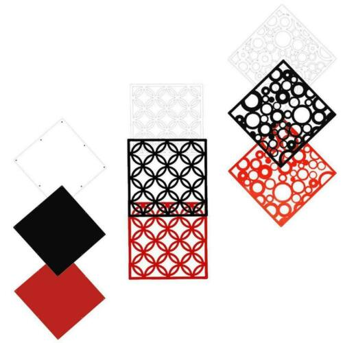 4Pcs Decorative Wall Hanging Screen Partition Room Divider Curtain Art Stickers