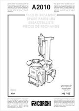 Corghi A2010 Tire Changer Parts Manual On Cdrom Italian