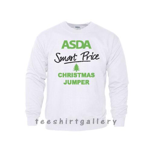 ASDA Smart Price Funny Joke XMAS Present Sweatshirt Mens Ladies CHRISTMAS JUMPER