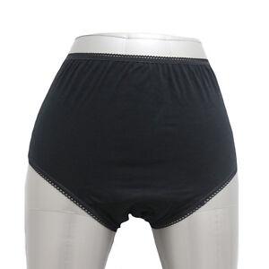 3pcs women incontinence brief pants cotton built in pads waterproof underwear ebay. Black Bedroom Furniture Sets. Home Design Ideas