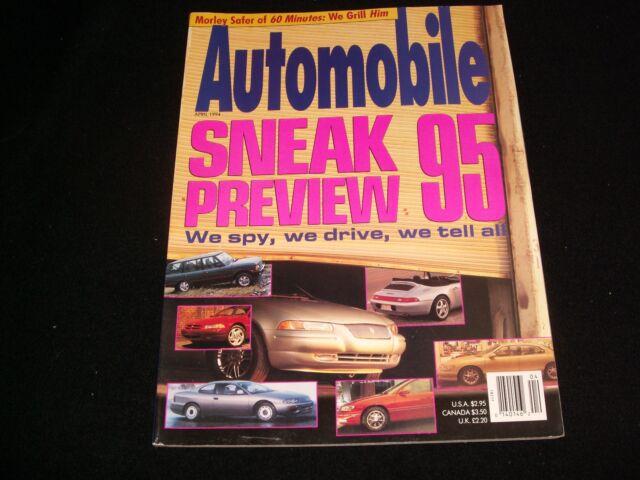 AUTOMOBILE<>APRIL 1994<>SNEAK PREVIEW 95