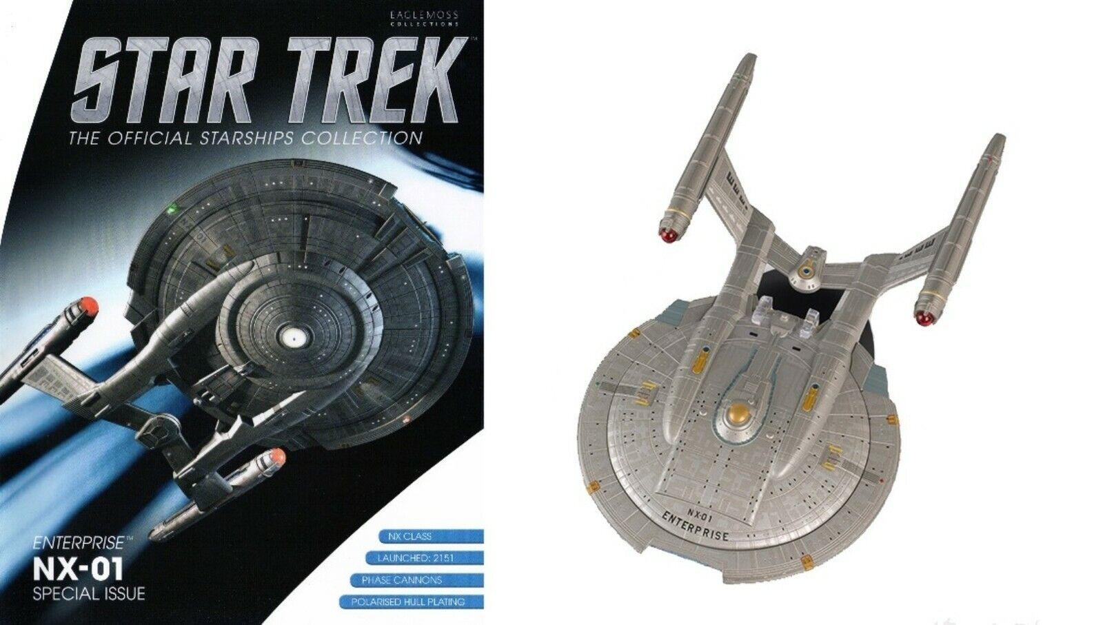 Enterprise NX-01 Edición Especial Star Trek EAGLEMOSS Grande Con Revista STMG 04